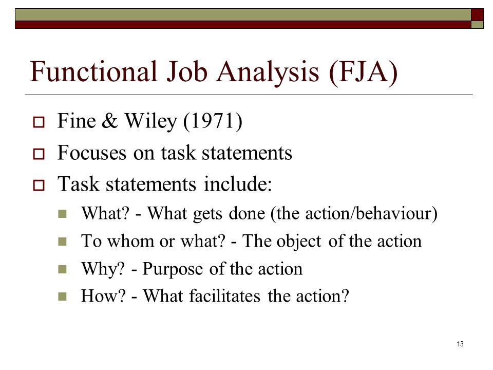 Functional Job Analysis (FJA)