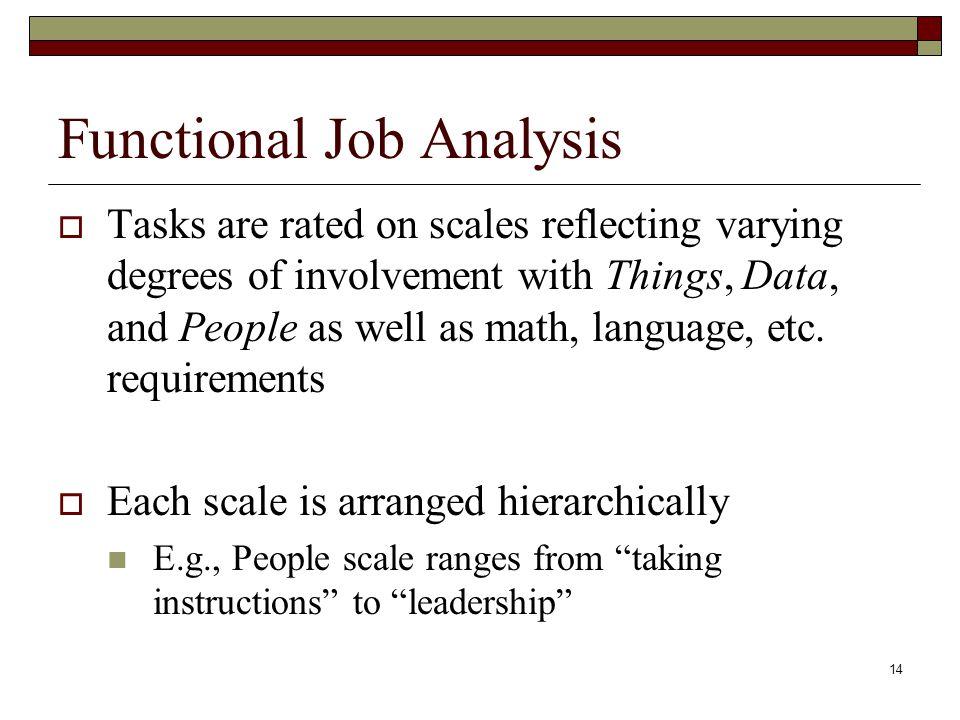Functional Job Analysis