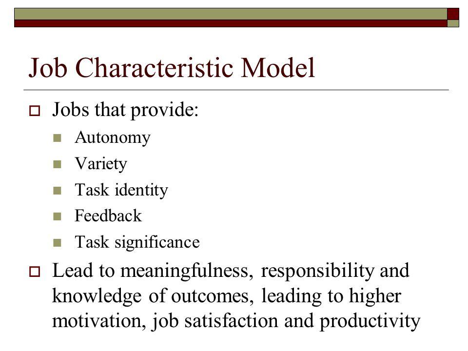 Job Characteristic Model