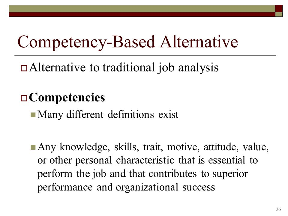 Competency-Based Alternative