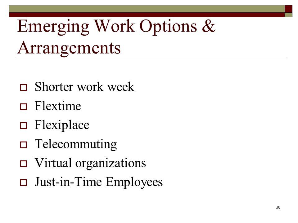 Emerging Work Options & Arrangements