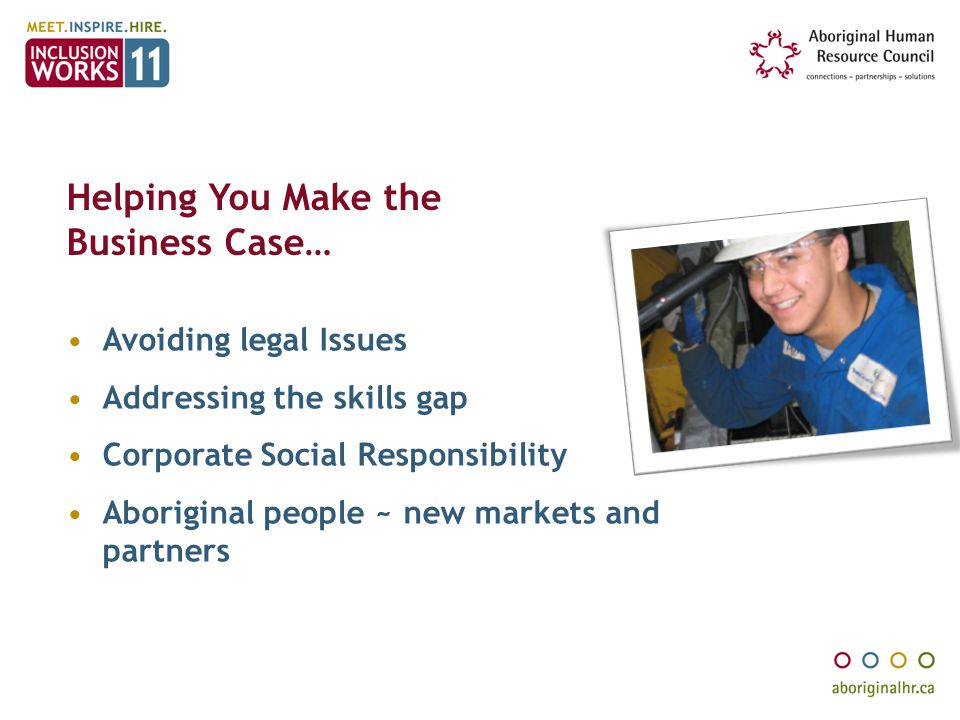 Helping You Make the Business Case…