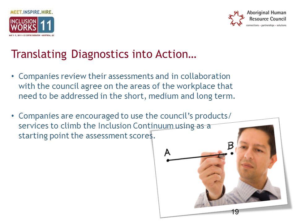 Translating Diagnostics into Action…