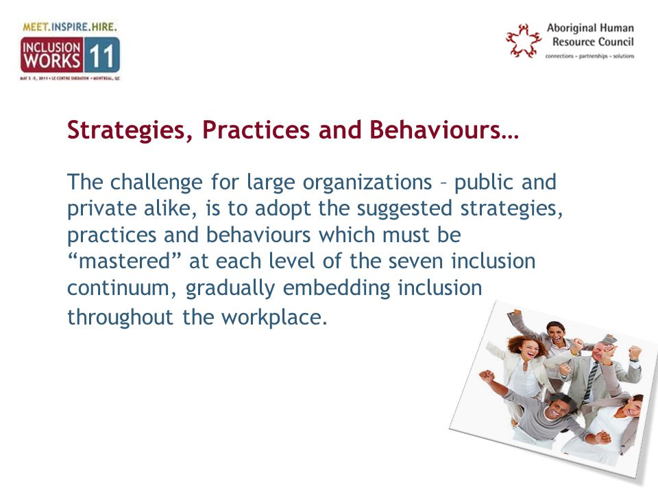 Strategies, Practices and Behaviours…