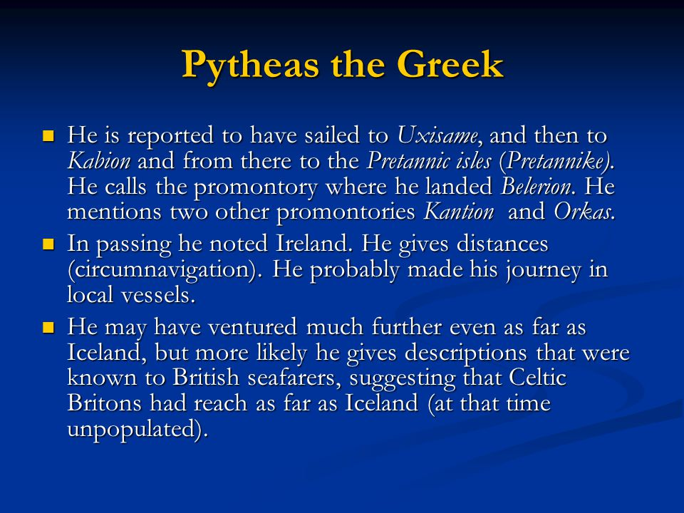 Pytheas the Greek