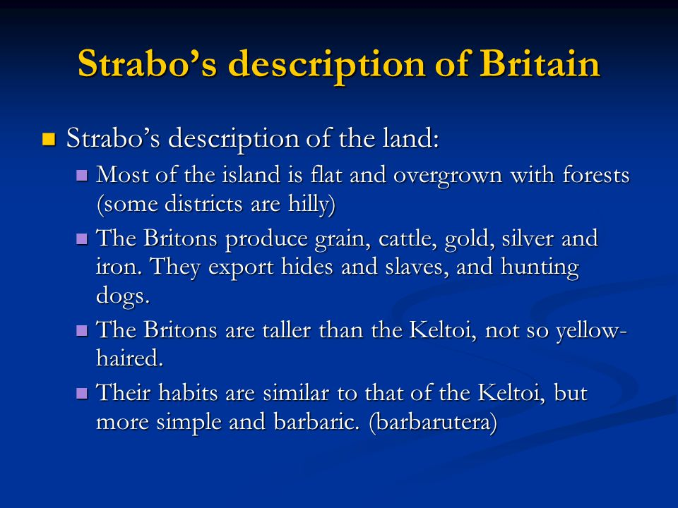 Strabo's description of Britain