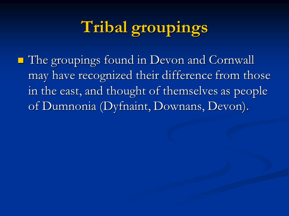 Tribal groupings