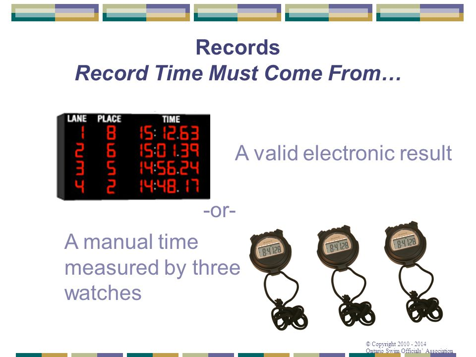 Records Record Time Must Come From…