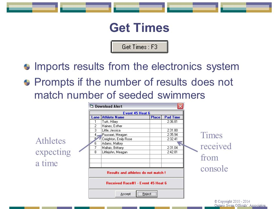 Get Times Imports results from the electronics system