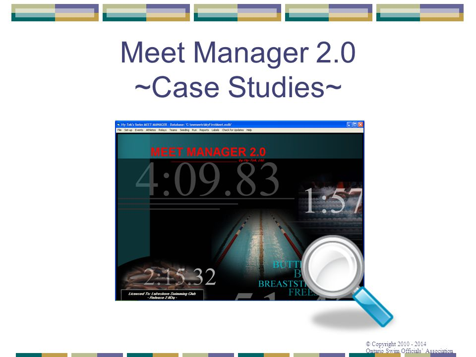 Meet Manager 2.0 ~Case Studies~