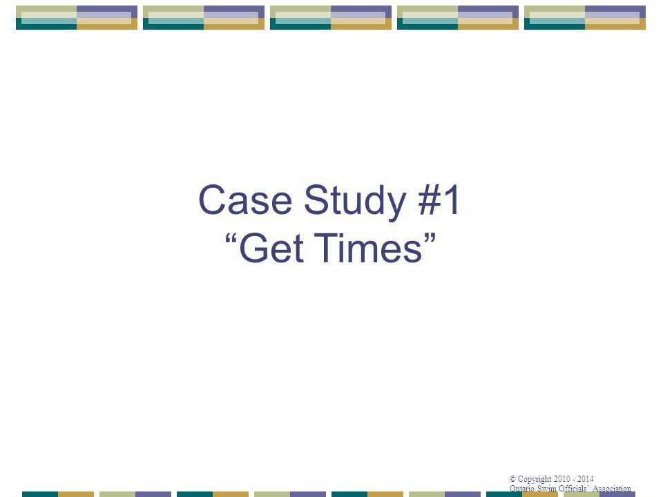 Case Study #1 Get Times