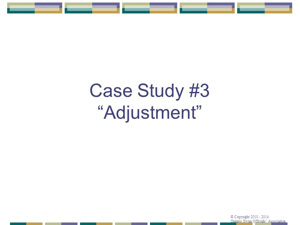 Case Study #3 Adjustment