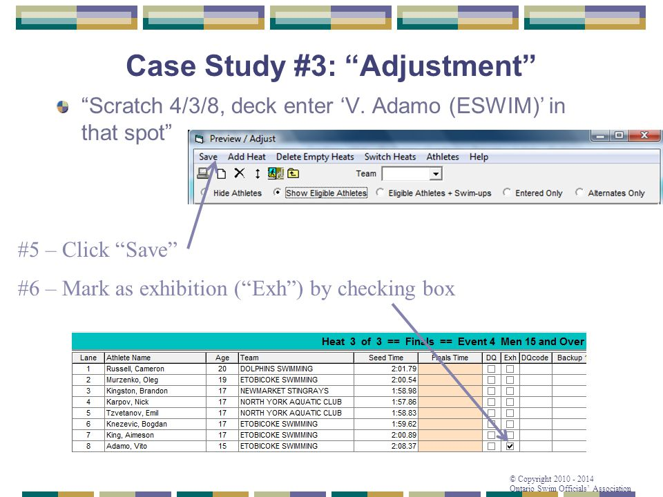Case Study #3: Adjustment