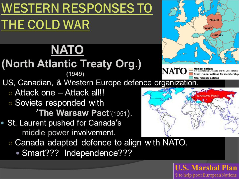 WESTERN RESPONSES TO THE COLD WAR