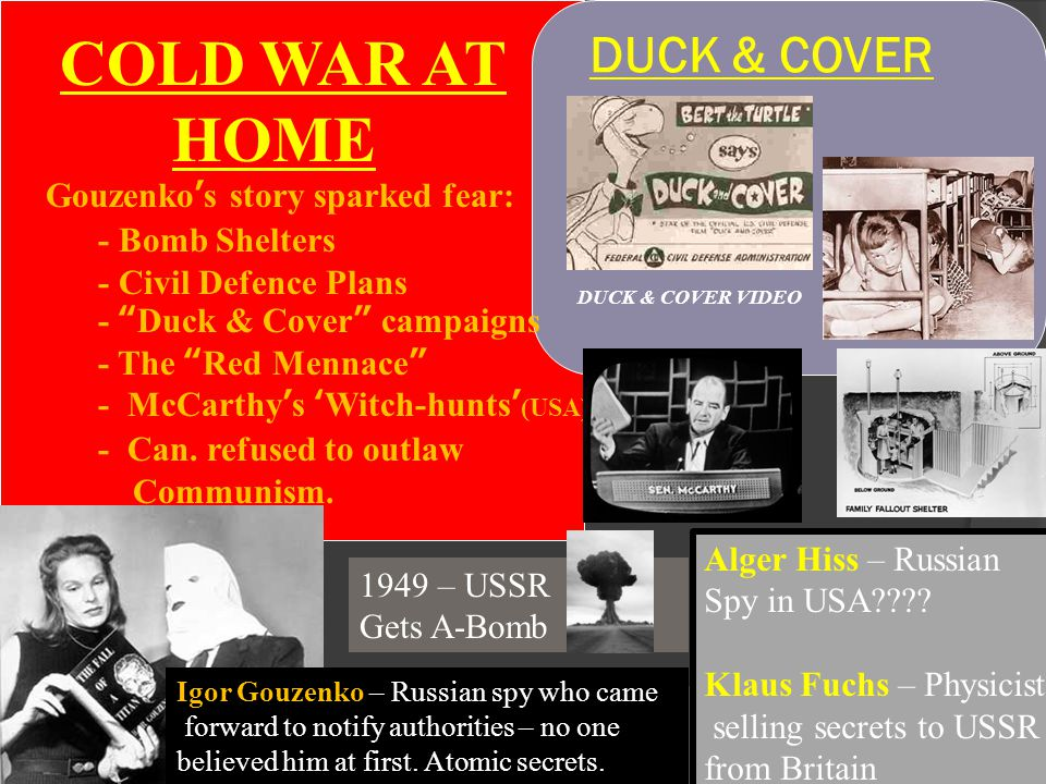 COLD WAR AT HOME DUCK & COVER Gouzenko's story sparked fear: