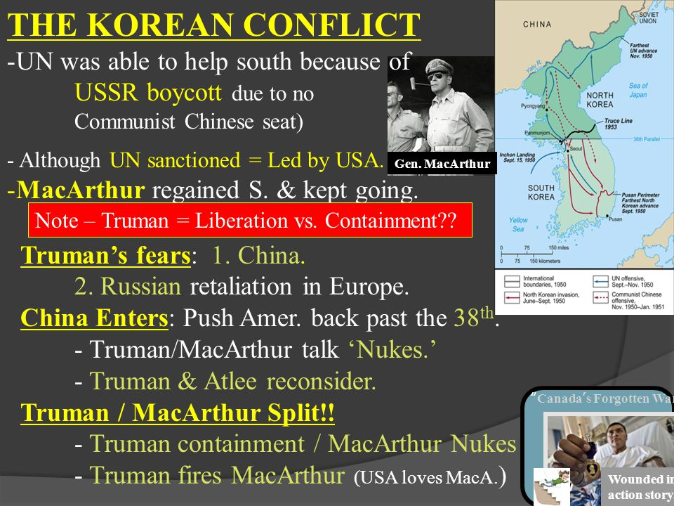 THE KOREAN CONFLICT UN was able to help south because of