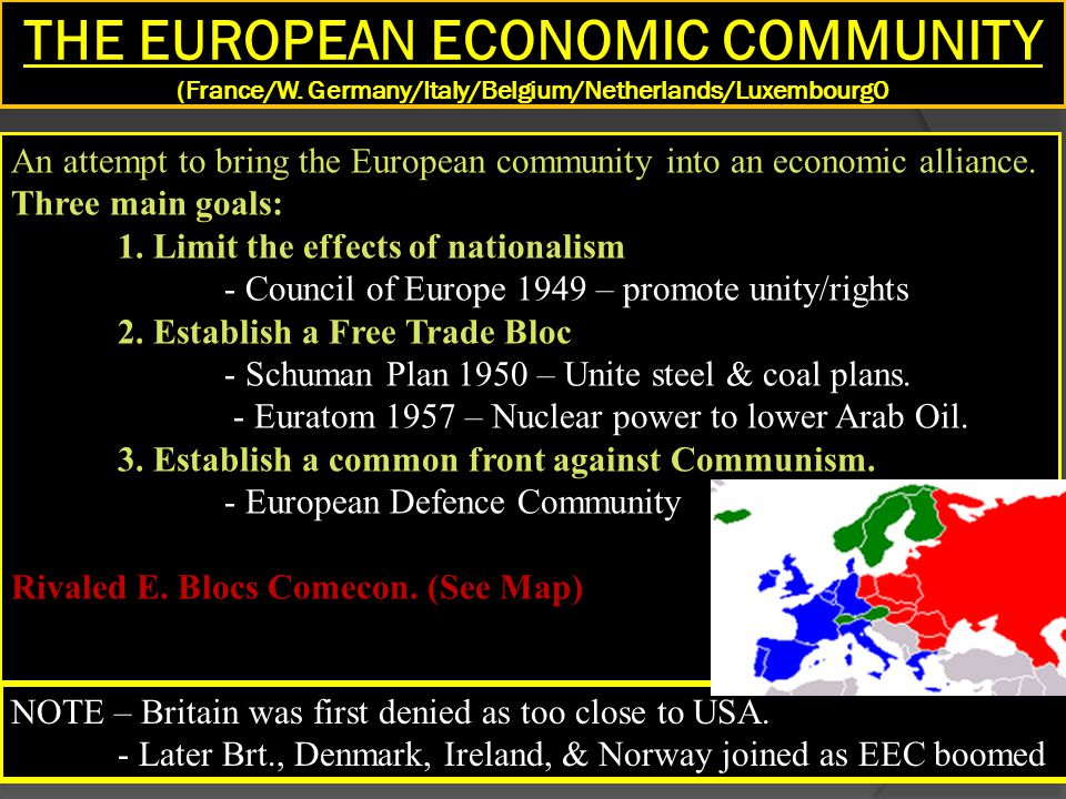 THE EUROPEAN ECONOMIC COMMUNITY (France/W