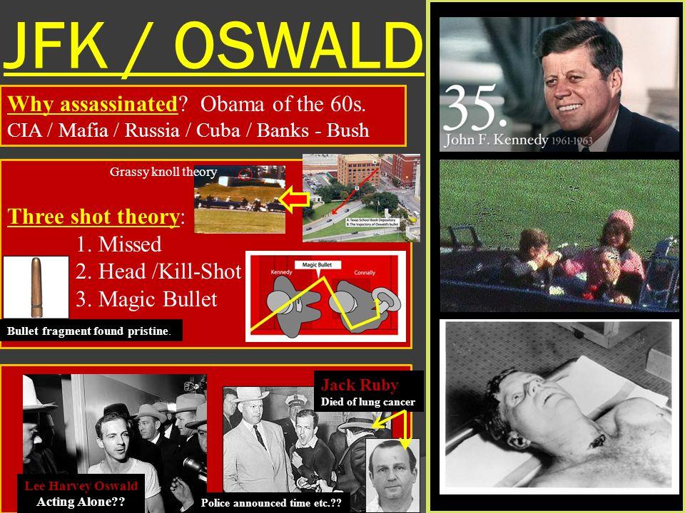 JFK / OSWALD Why assassinated Obama of the 60s. Three shot theory: