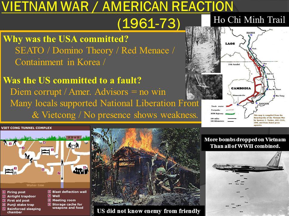 VIETNAM WAR / AMERICAN REACTION (1961-73)