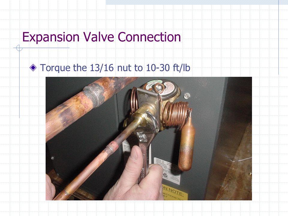 Expansion Valve Connection