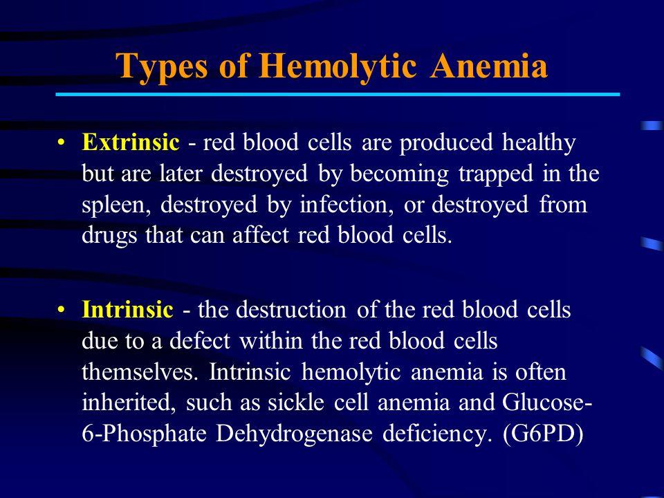 Types of Hemolytic Anemia