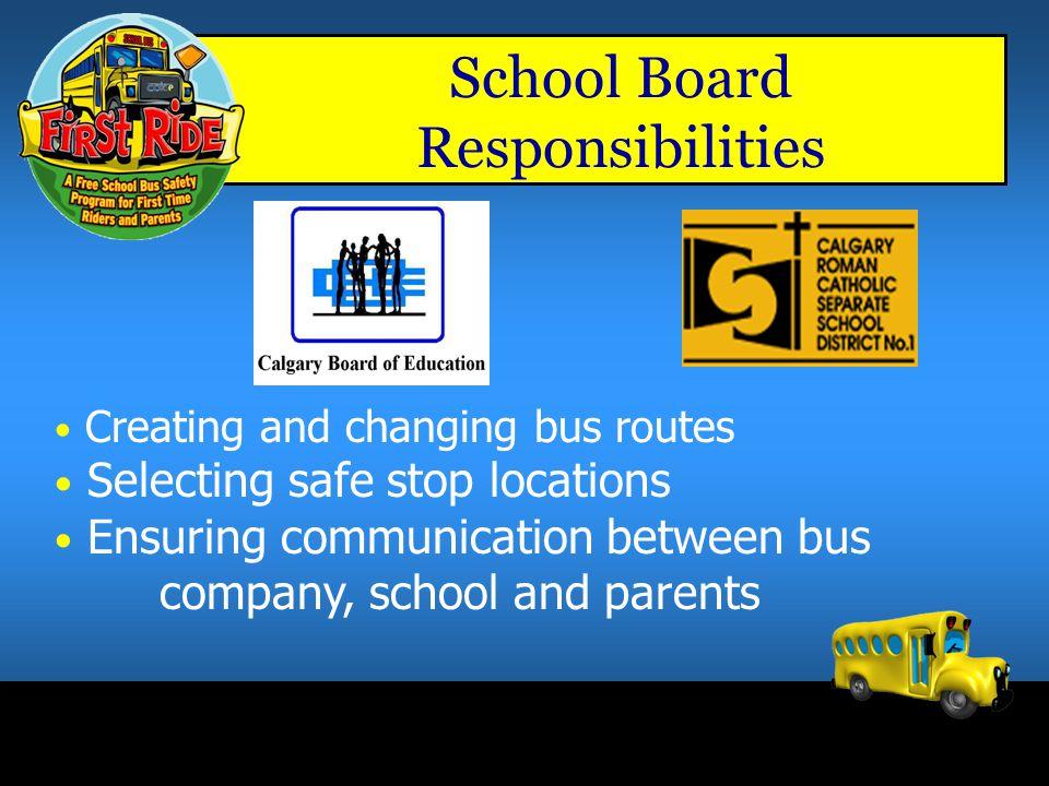 School Board Responsibilities