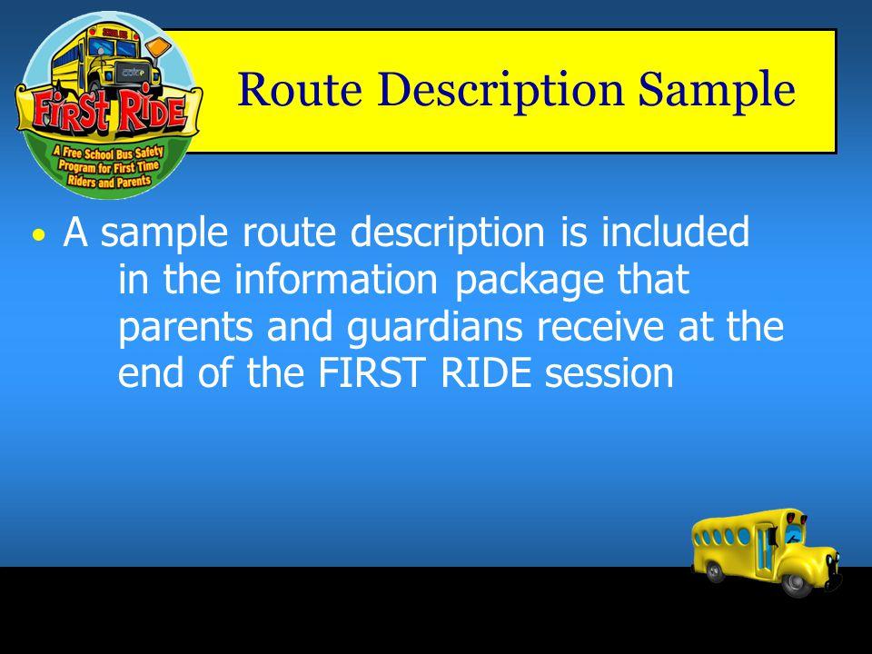 Route Description Sample