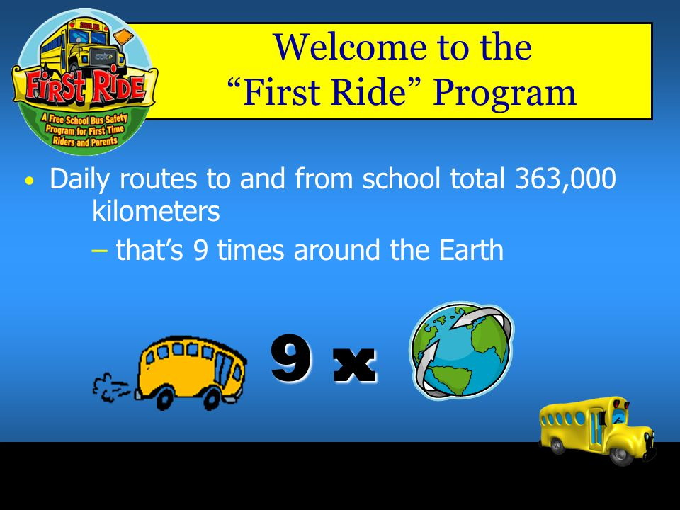 Welcome to the First Ride Program