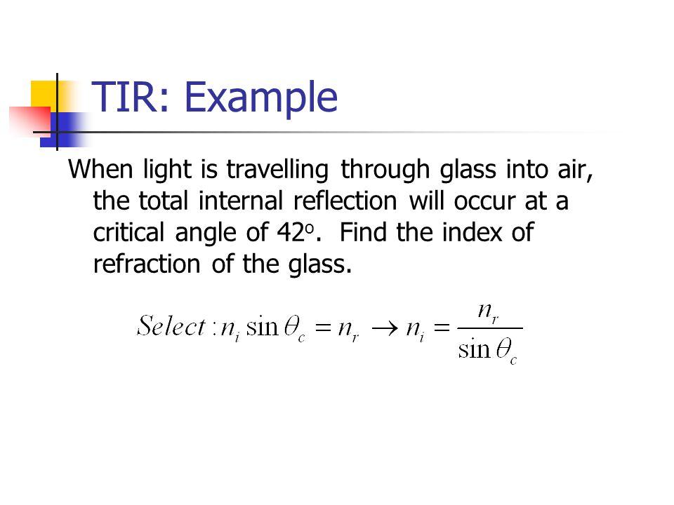 TIR: Example