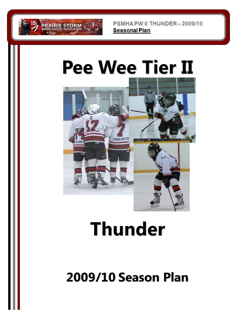 Pee Wee Tier II Thunder 2009/10 Season Plan