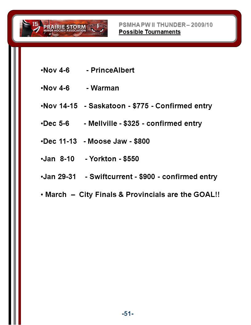 Nov 14-15 - Saskatoon - $775 - Confirmed entry