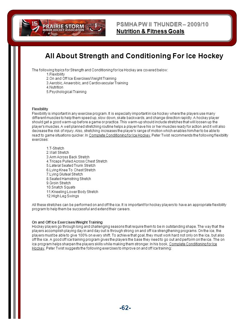 All About Strength and Conditioning For Ice Hockey