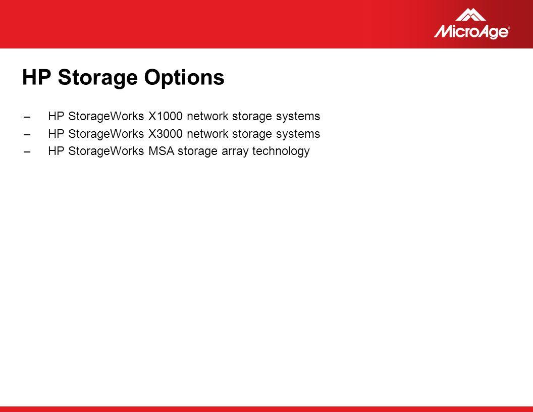 HP Storage Options HP StorageWorks X1000 network storage systems