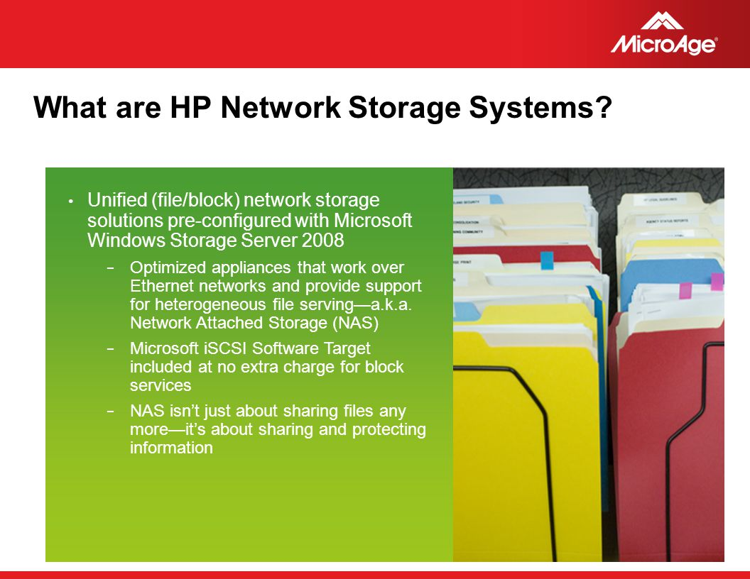 What are HP Network Storage Systems