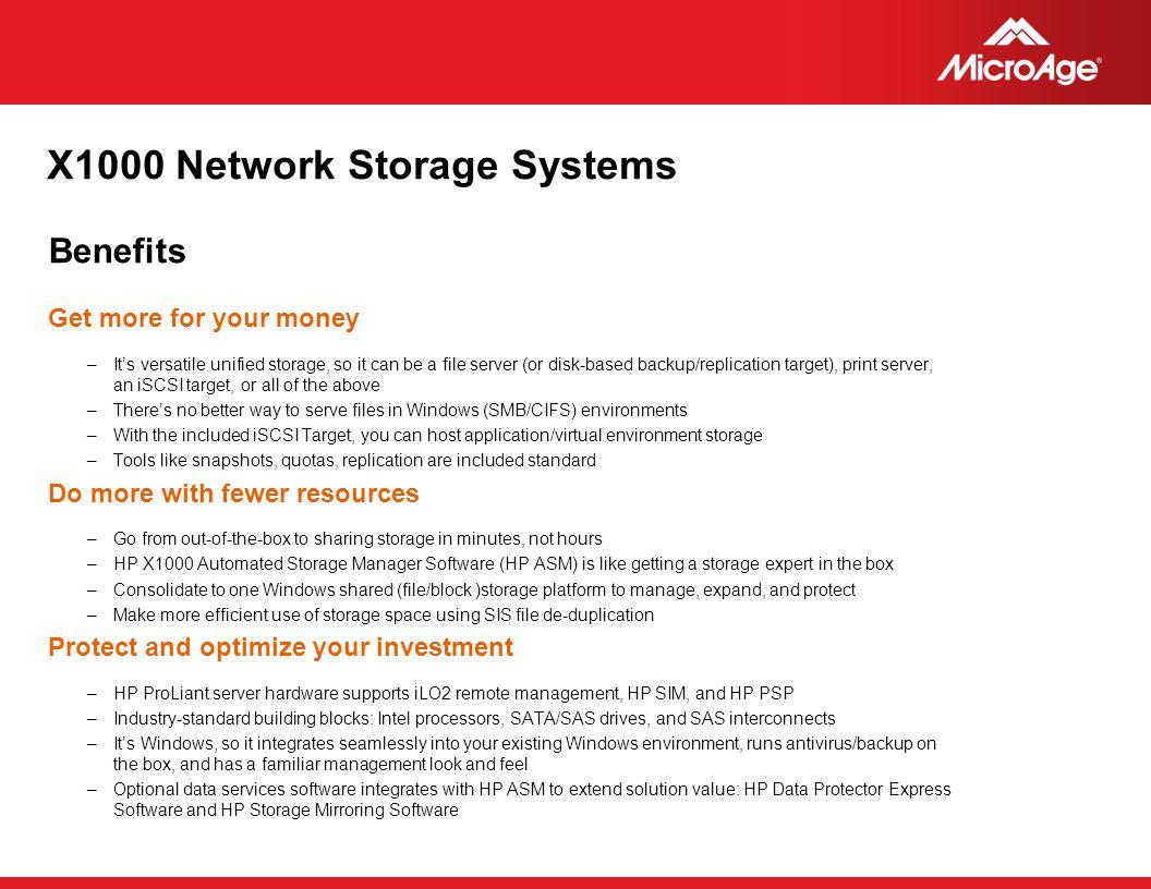 X1000 Network Storage Systems