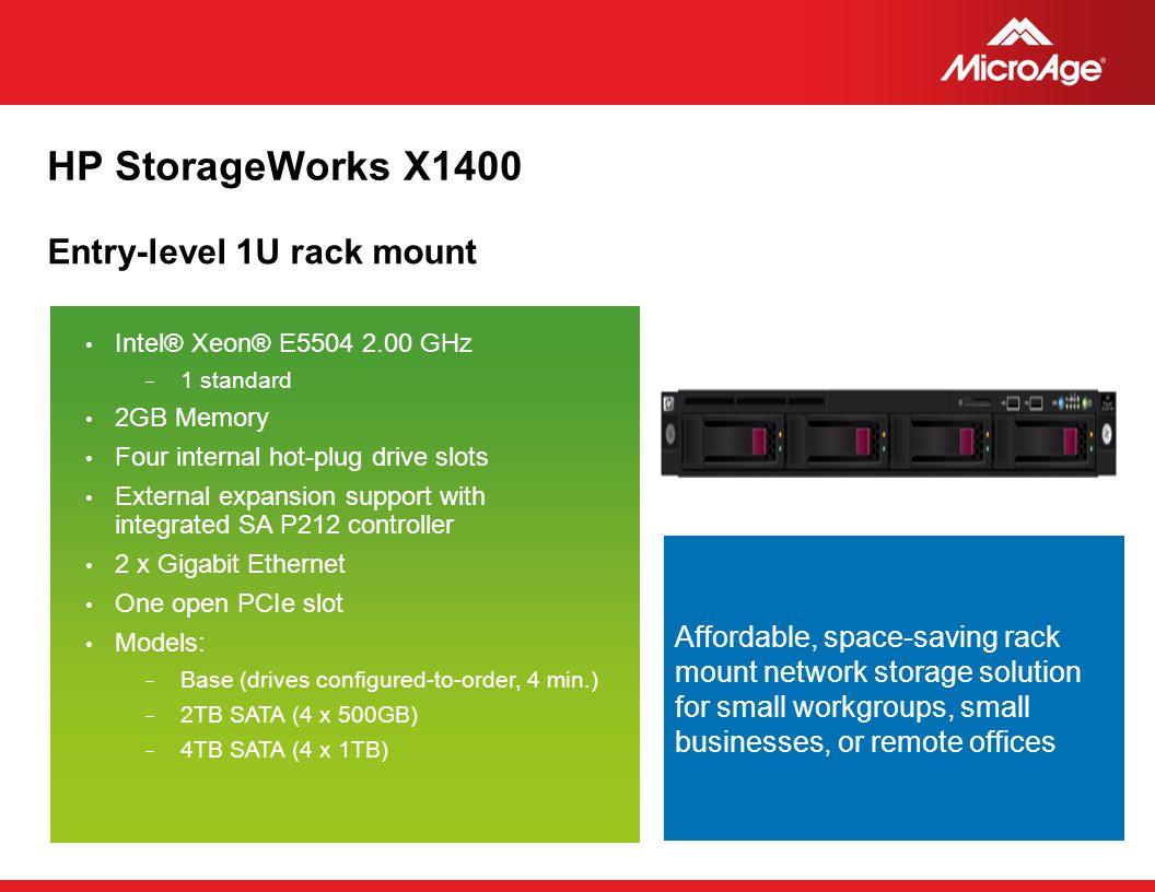 HP StorageWorks X1400 Entry-level 1U rack mount