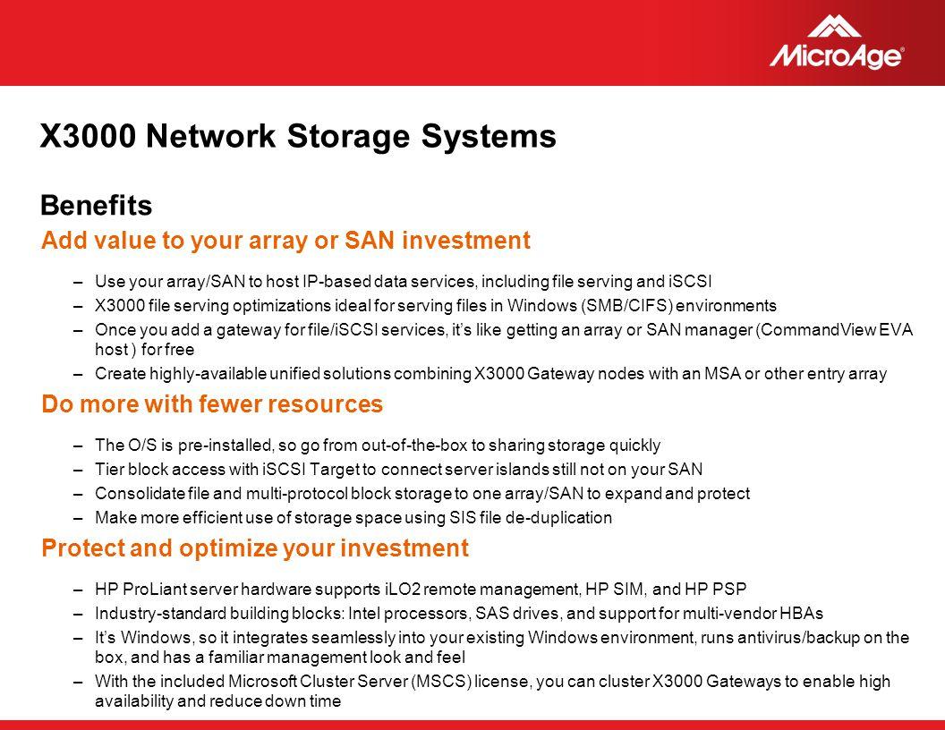 X3000 Network Storage Systems