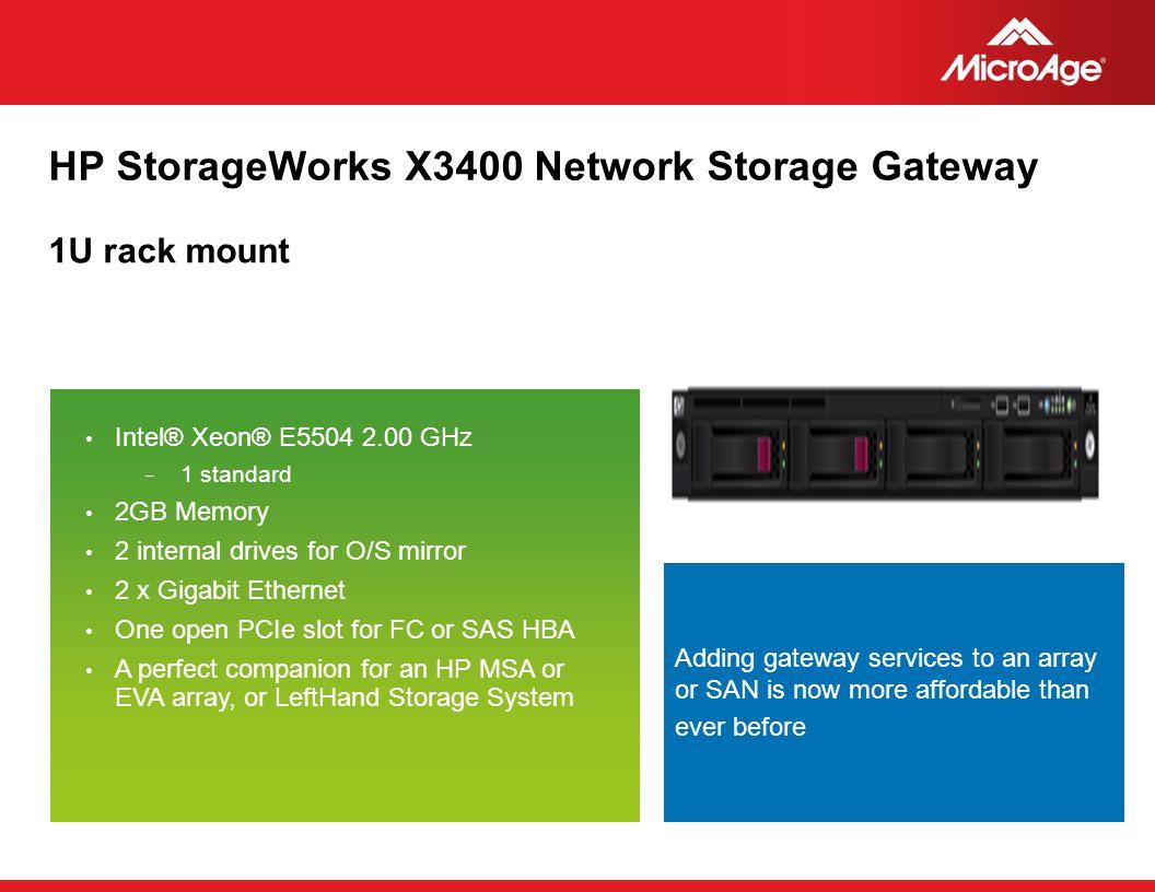 HP StorageWorks X3400 Network Storage Gateway
