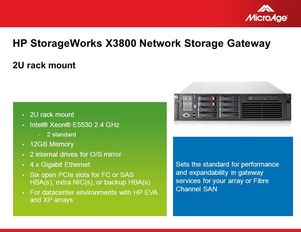 HP StorageWorks X3800 Network Storage Gateway