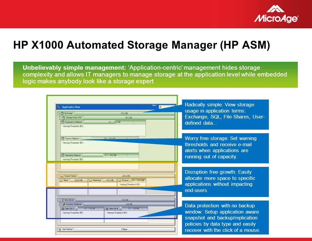 HP X1000 Automated Storage Manager (HP ASM)