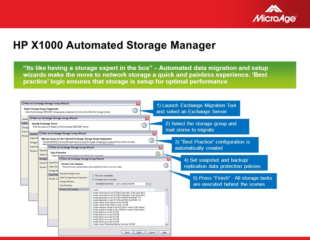 HP X1000 Automated Storage Manager