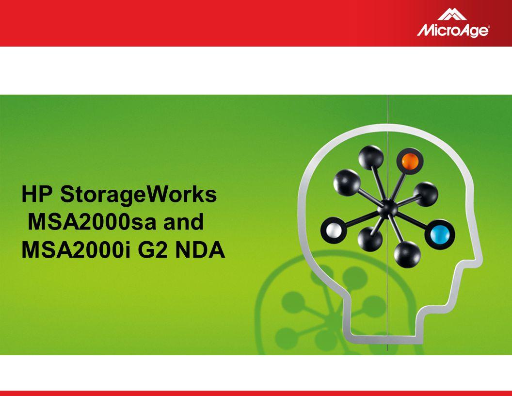 HP StorageWorks MSA2000sa and MSA2000i G2 NDA