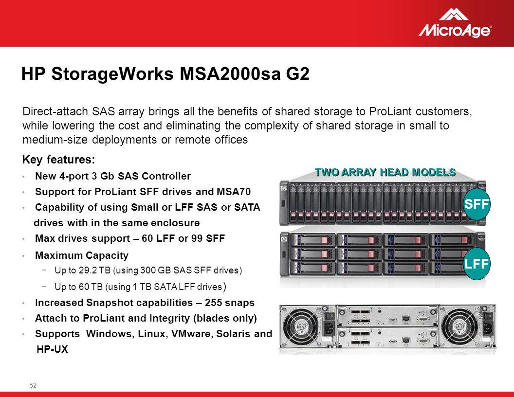 HP StorageWorks MSA2000sa G2