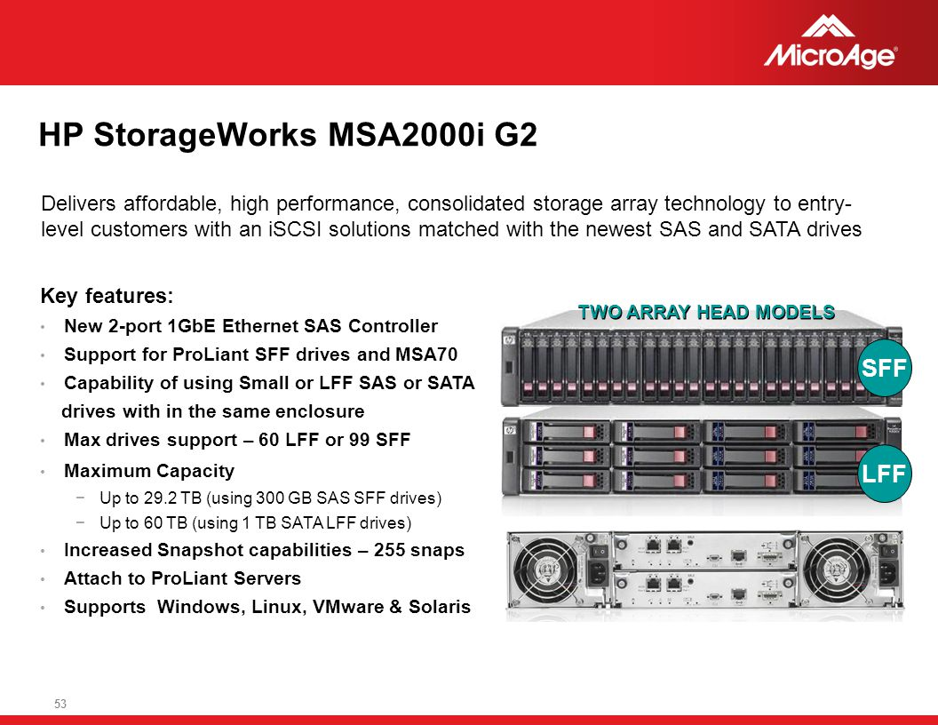 HP StorageWorks MSA2000i G2 SFF LFF