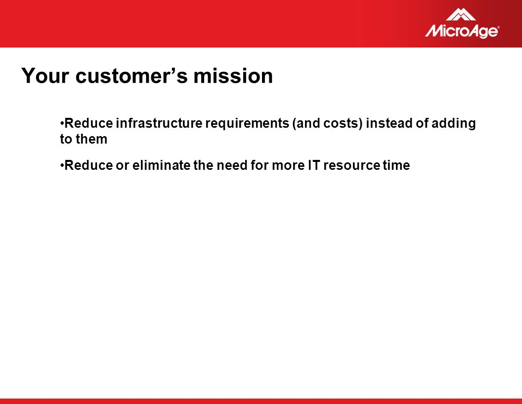 Your customer's mission
