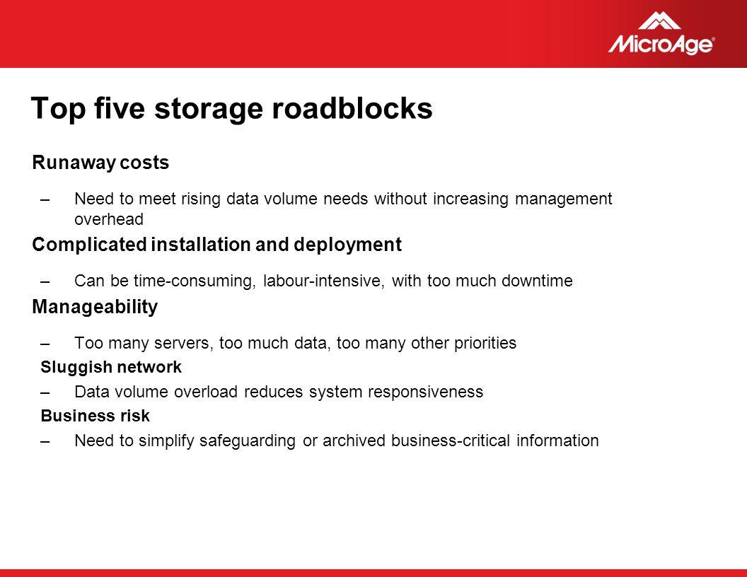 Top five storage roadblocks