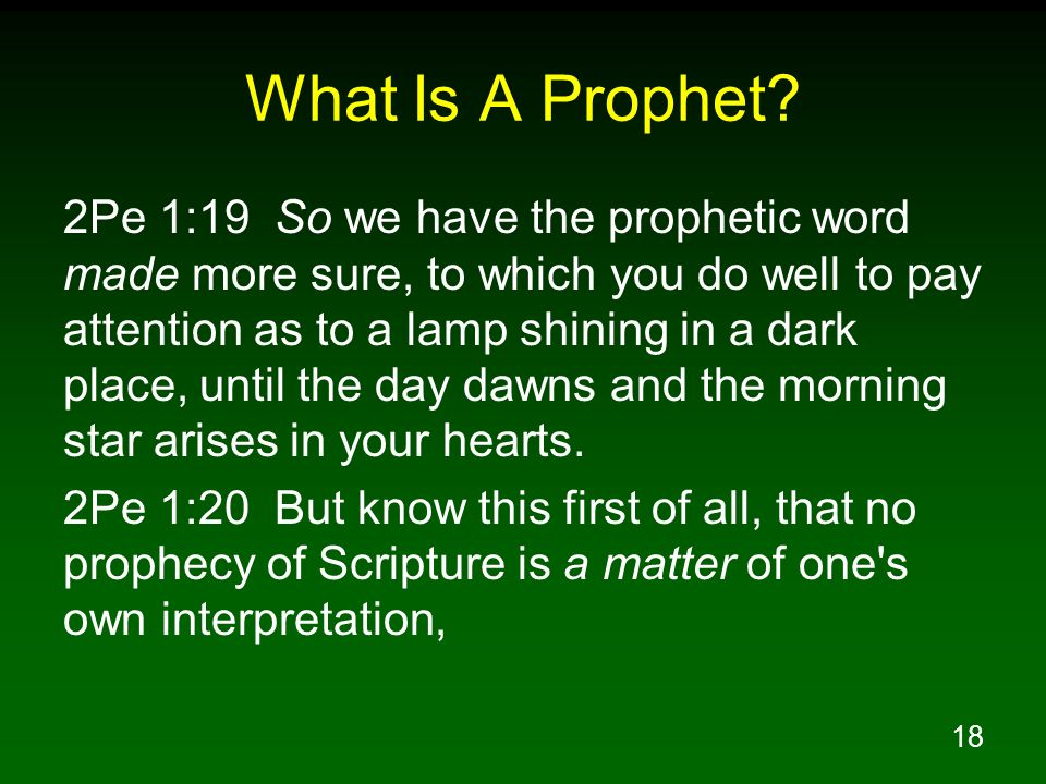 What Is A Prophet