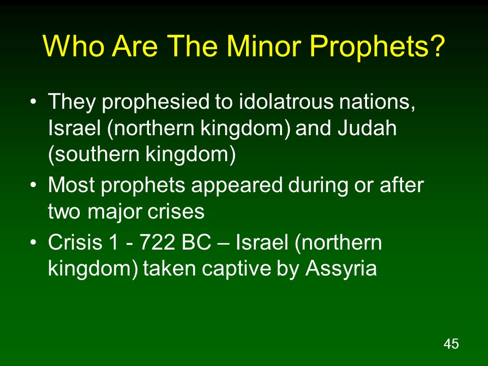 Who Are The Minor Prophets