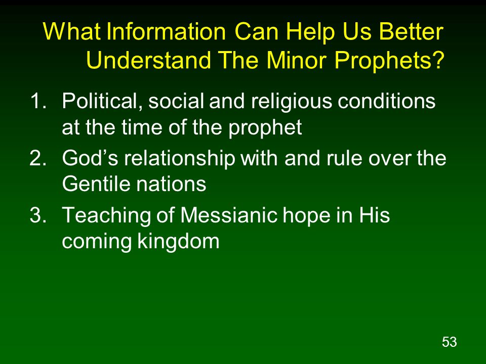 What Information Can Help Us Better Understand The Minor Prophets
