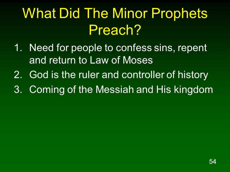 What Did The Minor Prophets Preach